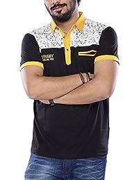 Vishal Men Black Polo T-Shirt
