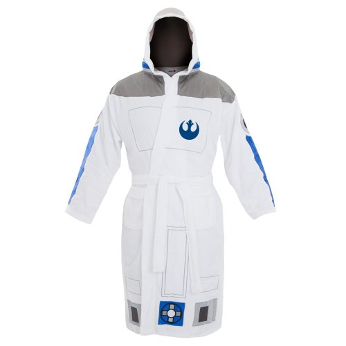 Star Wars R2-D2 Adult Bathrobe, white, one size fits most