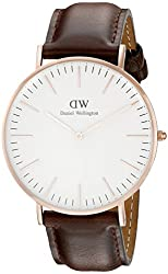 Daniel Wellington Men's 0109DW Classic Bristol Stainless Steel Watch with Brown Strap