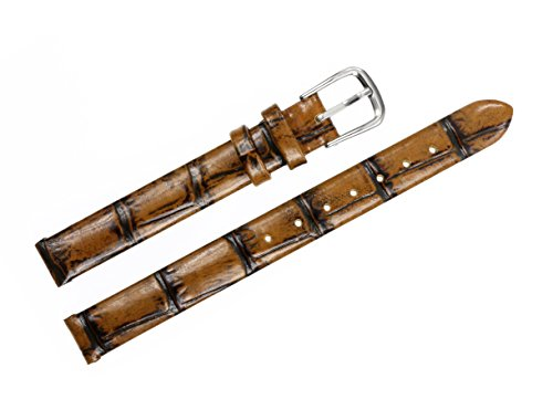 6mm-womens-superfine-luxury-bronze-brown-leather-watch-straps-mottled-small-sized-lightly-padded