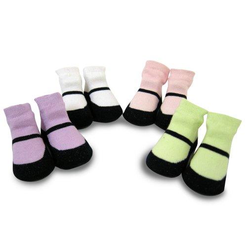Baby Essentials Socks, Girls, 4 Pack