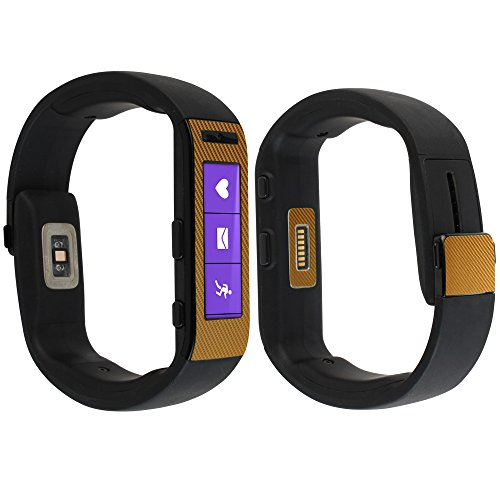 skinomir-techskin-microsoft-band-screen-protector-gold-carbon-fiber-full-body-skin-protector-with-fr