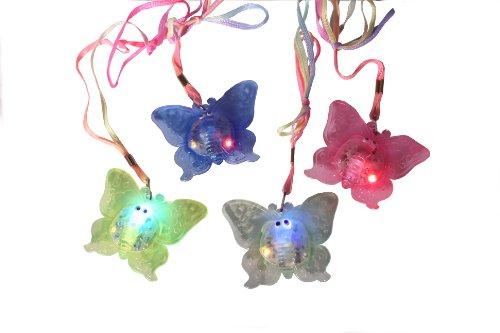 WeGlow International Butterfly Flashing Jelly Necklace, 8-Piece