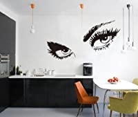 Audrey Hepburn's Eyes Silhouette Wall Sticker Decals Home Decor Removable Black from Other