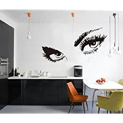 [Best price] Kids&#039 - WOW!STickeRs Audrey Hepburn's Eyes Silhouette Wall Sticker Decals Home Decor Removable Black - toys-games