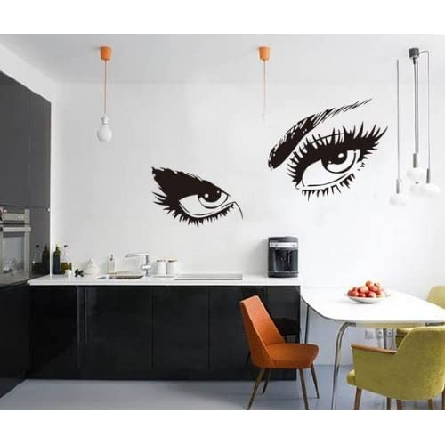 WOW!STickeRs Audrey Hepburns Eyes Silhouette Wall Sticker Decals Home Decor Removable Black (Audrey Hepburns Eyes)