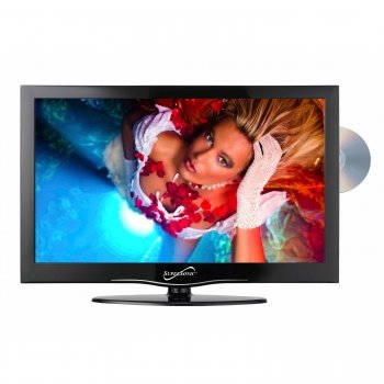 """Supersonic Sc-1912 19"""" Widescreen Led Hdtv With Built-In Dvd Player"""