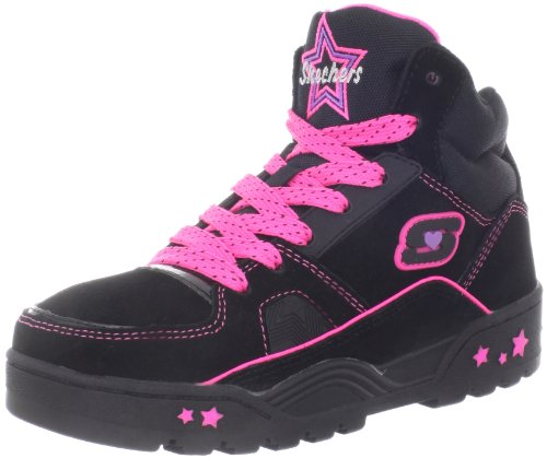 Skechers Beatsters Trainers Girls Black Schwarz (BKNP) Size: 13 (32 EU)