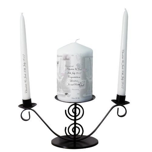 Silver Candle Gift Set. This is a great product that can be personalised to your requirements ( please see main discription for full details ) Ideal gifts and presents for weddings, Christenings, Birthdays, Christmas etc...