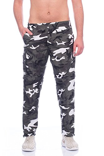Herren Camouflage Hose Hosenbeine kürzbar Freizeithose