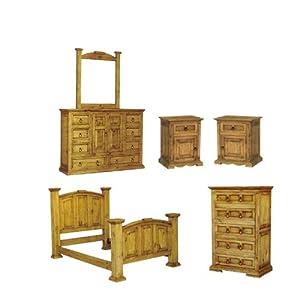 San Carlos Rustic Pine Bedroom Set Bedroom Furniture Sets
