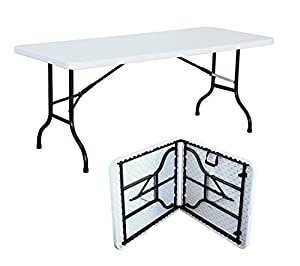 Tavolo pieghevole in resina da giardino rettangolare for Tavoli pieghevoli