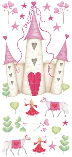RoomMates YH1328M Princess Castle Peel & Stick Giant Wall Decal