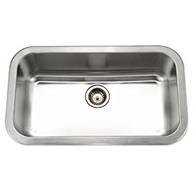 Houzer MGS-3018-1 Medallion 32-3/8-by-18-7/8-Inch Single Bowl Stainless Steel Kitchen Sink