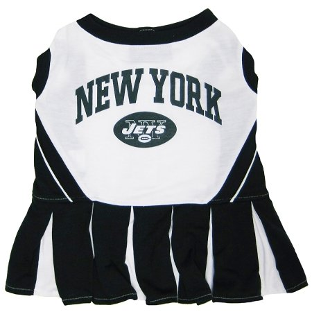 Pets First New York Jets NFL Dog Cheerleader Outfit - Extra Small at Amazon.com