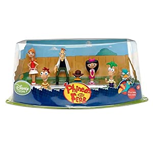 Disney, Phineas, Ferb, Candice, Perry, Isabella, Dr.Doofenshmirtz - Figurenset