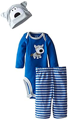 Gerber Baby Boys' Three-Piece Bodysuit, Cap, and Pant Set
