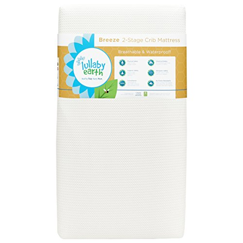 Lullaby Earth Breeze 2- Stage Crib Mattress - White