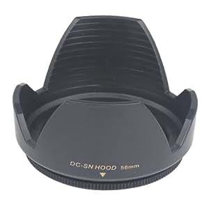 TRIXES Pare-soleil 58 mm. pour objectifs Canon et Nikon