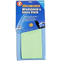 Viking 833200Microfiber Windshield and Glass Cloth - Pack of 2