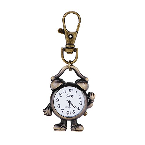 ACE New Fashionable Vintage Robot Clock Quartz Watches Pocket Watch Key Ring Necklace Gift (Robot Watch Vintage compare prices)