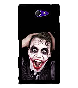 printtech Joker Back Case Cover for Sony Xperia M2 Dual D2302 , Sony Xperia M2