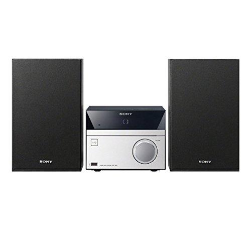Sony CMT-S20 Sistema Mini Hi-Fi, Potenza 10W, Lettore CD, Radio FM, USB, AUX in, Nero
