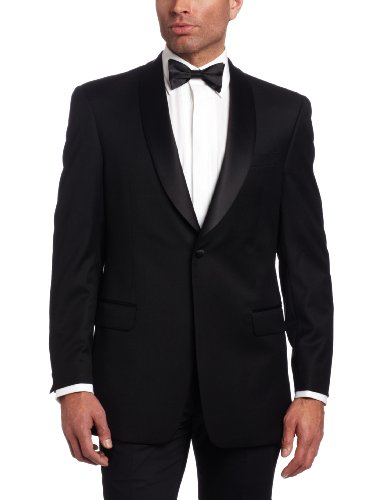 Tommy Hilfiger Men's Two Button Trim Fit Tuxedo Jacket with Shawl Collar