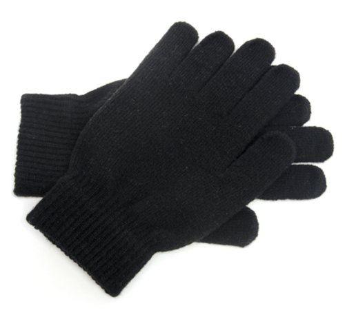 Octave Mens Magic Gloves With Wool - Black