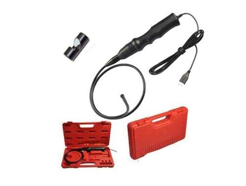 Usb Endoscope Inspection Snake Camera Borescope 6Leds/7.2Mm Dia+Hard Box+Mirror