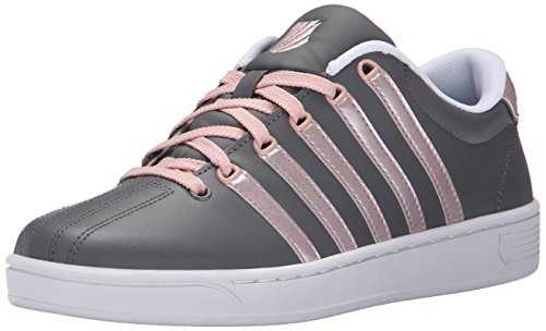 K-Swiss Women's Court Pro II CMF Metallic Athletic Shoe, Charcoal/Silver Pink, 9 M US