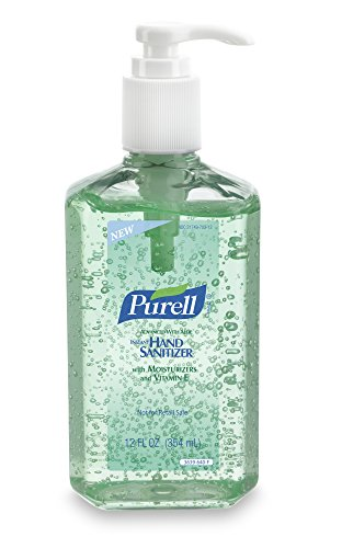 Purell 3639-12 Advanced Instant Hand Sanitizer With Aloe, 12 Oz Bottle (Pack Of 12) front-706936