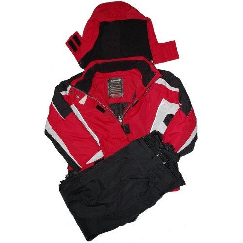 Outburst - functional ski-suit, girls, red-black