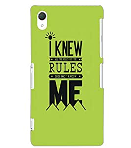 SONY XPERIA Z2 RULES Back Cover by PRINTSWAG