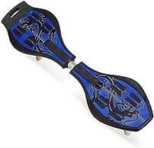 Wave-Monopatín Waveboard (ruedas LED azul-incluye bolsa +