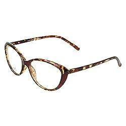 Zyaden Brown Cateye Eyewear Frame 82