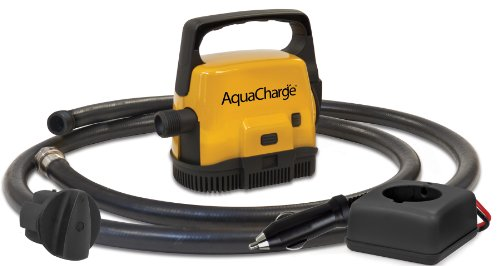 Aqua Charge Portable Rechargeable Pump with 12 Volt Charger Adapter
