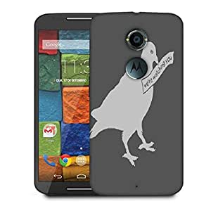 Snoogg Birds Are Watching You 2911 Designer Protective Phone Back Case Cover For Moto X 2nd Generation