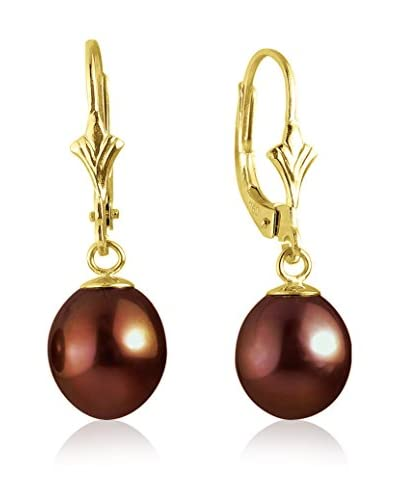 Compagnie générale des perles Pendientes  Dorado / Rojo Oscuro