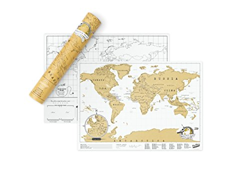 Scratch Map Travel Size Personalised World Map
