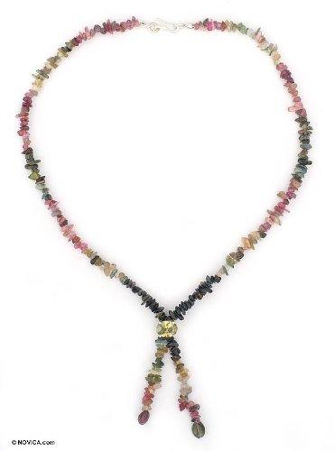 Tourmaline strand necklace, 'Color Spectrum'