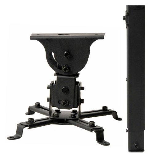 videosecu-lcd-dlp-projector-vaulted-ceiling-mount-bracket-with-adjustable-extension-pole-to-267-blac