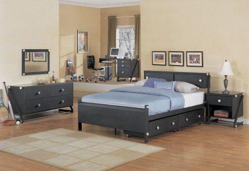 Z Bedroom 2 drws underbed storage - Black