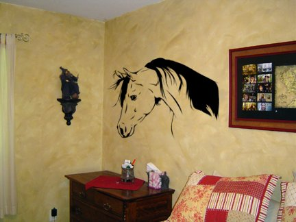 Nice Arabian horse head decal--sold by aluckyhorseshoe