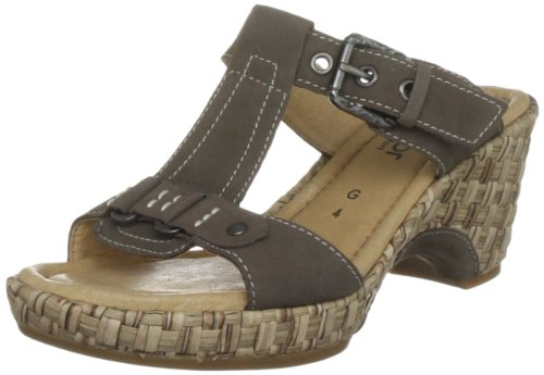 Gabor Women's Fragrance Nubuck Dark Fumo Slides Sandal 42.741.33 5 UK