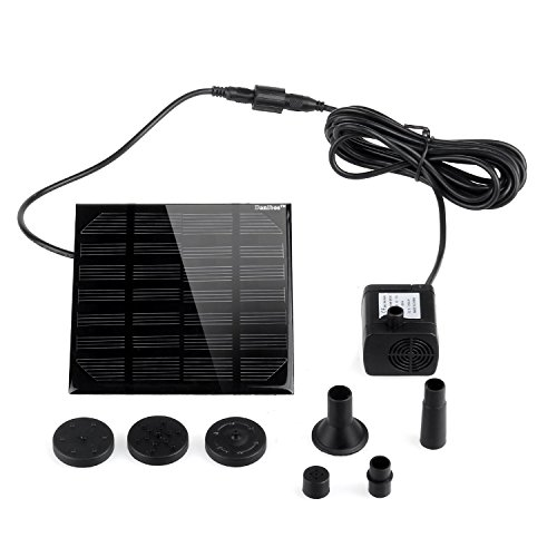 Danibos Solar Power Panel Kit Water Pump for Garden Pond Fountain Pool (1.12w solar pump)