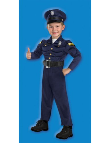 Child Officer Awesome Sm Kids Boys Costume