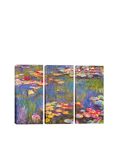 Claude Monet Water Lilies, 1916 3-Piece Canvas Print