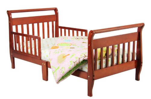 Dream On Me Classic Sleigh Toddler Bed, Cherry front-918012