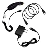 Cbus Wireless 3IN1 Pack Micro USB MicroUSB Car Charger, Wall Charger & Data Cable for Samsung ATIV S Neo, Gravity Q, Galaxy Proclaim, Galaxy Centura S738C, Galaxy Exhibit, Galaxy Ring, Prevail 2